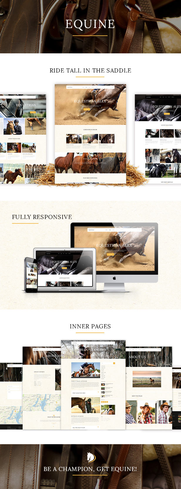 WordPress theme Equine - An Equestrian and Horse Riding Club Theme (Miscellaneous)